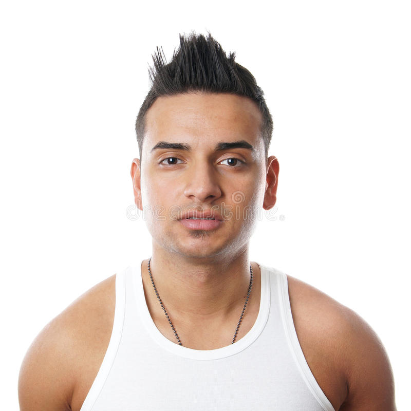 Young man with spiky hair. Young turkish man with spiky hair stock photography