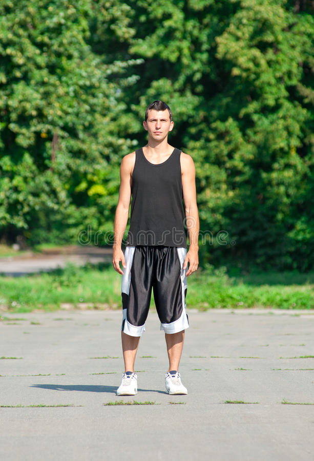 Download Young Man In Sports Wear In Park Stock Image - Image: 20560347