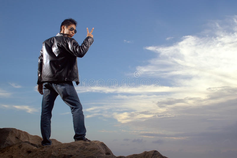 Download Young man standing stock photo. Image of friendly, handsome - 15978380