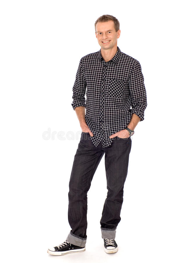 Young man standing royalty free stock photography