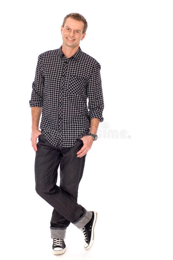 Young man standing royalty free stock photos