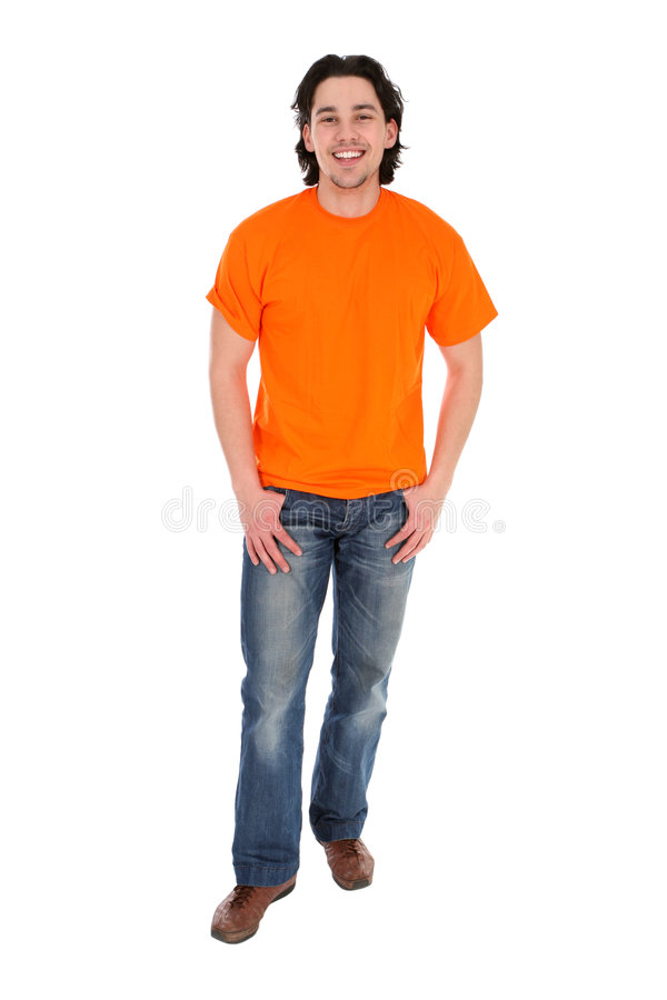 Young man standing royalty free stock images