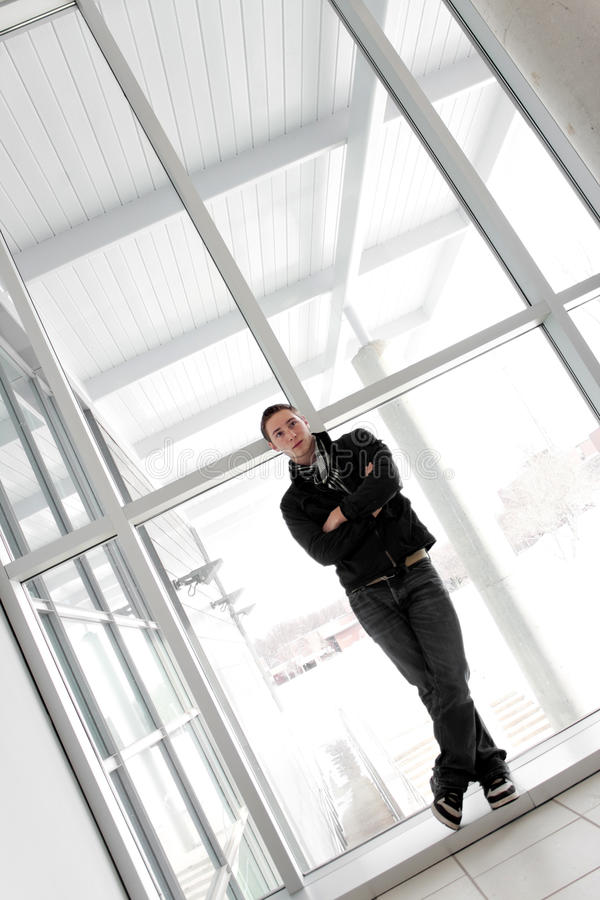 Download Young Man Standing Alone Royalty Free Stock Images - Image: 20908779