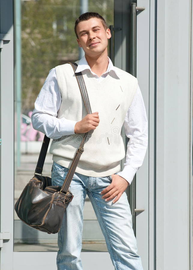 Download Young Man Standing Outdoors Stock Photo - Image: 19478950