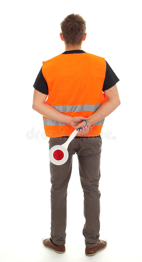 Download Young Man With Stopping Sign Stock Image - Image: 17014083