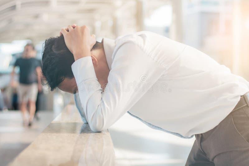 Young man with stress. stock photos