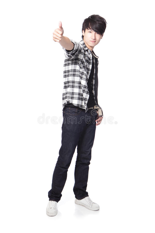 Download Young Man Student Show Thumb Up Stock Photo - Image: 28361470