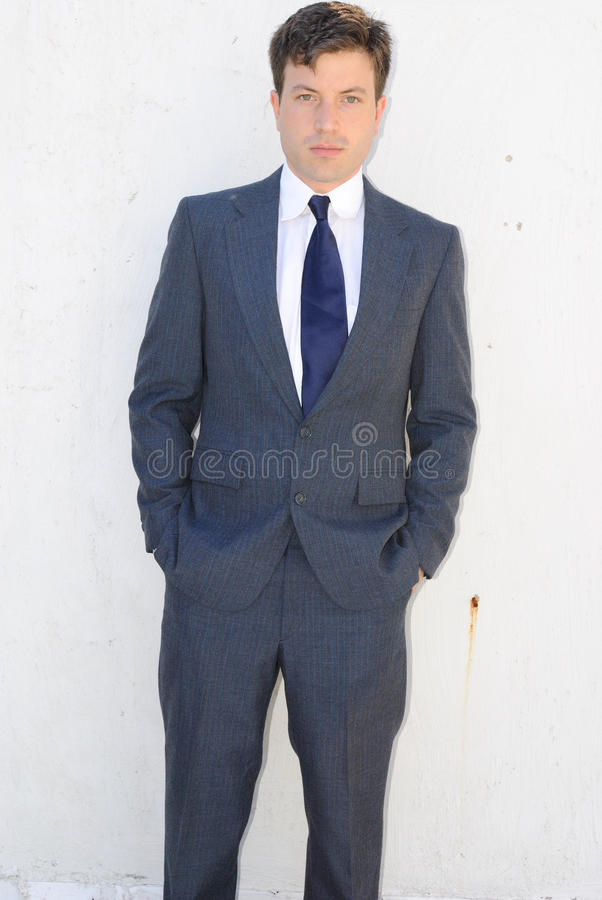 Young Man in Suit stock images