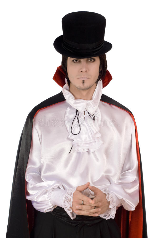 Download Young Man In A Suit Of Count Dracula Stock Photo - Image: 23677912