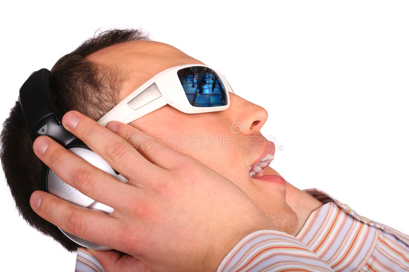 Download Young man with sunglasses stock image. Image of dark, human - 4674919