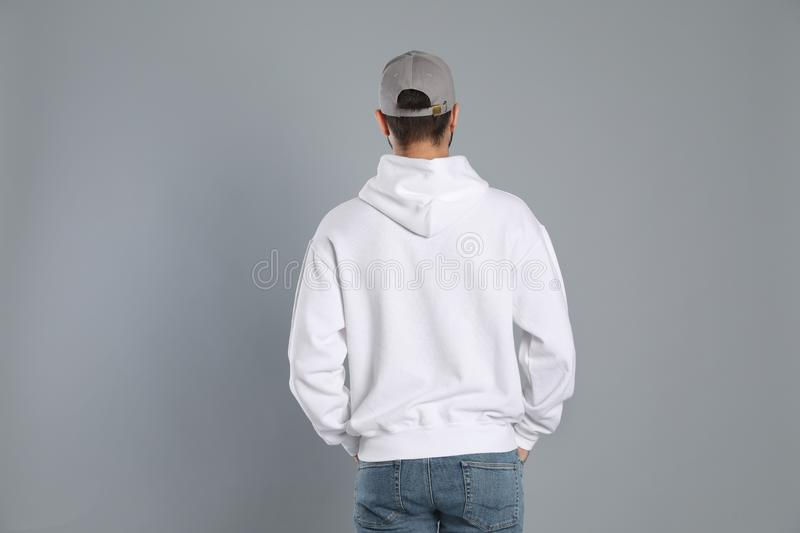 Young man in sweater. Mock up for design royalty free stock photos