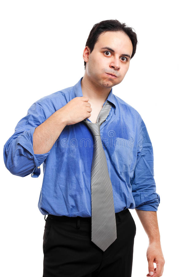 Young Man Sweating Stock Photography