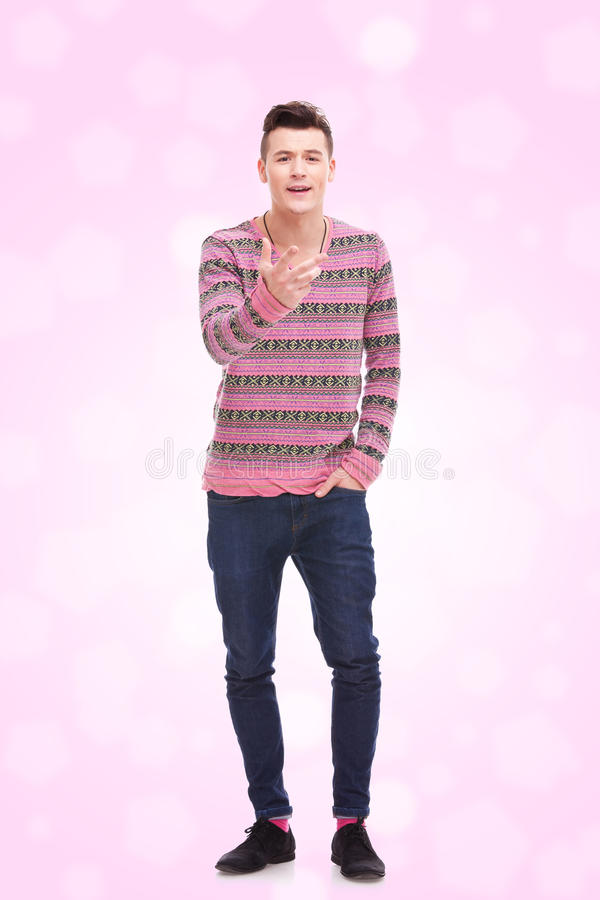 Download Young Man Talking And Gesturing Stock Image - Image of friendly, people: 23685285