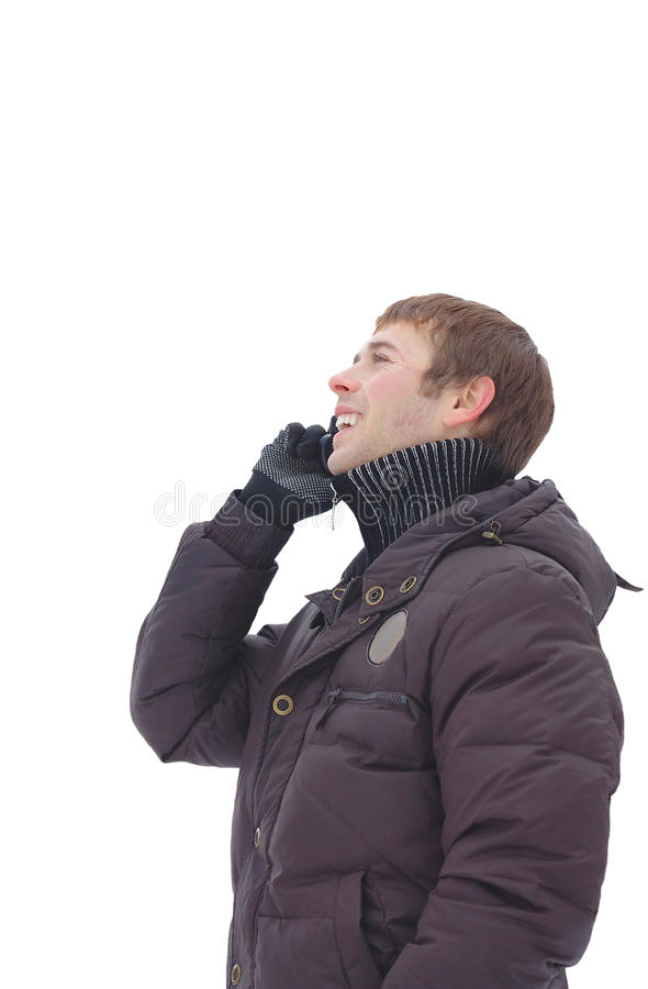 Download A Young Man Talking On The Phone Stock Photo - Image of mobile, laughing: 18372508