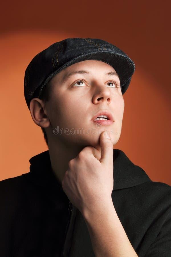 Young man thinking royalty free stock photo