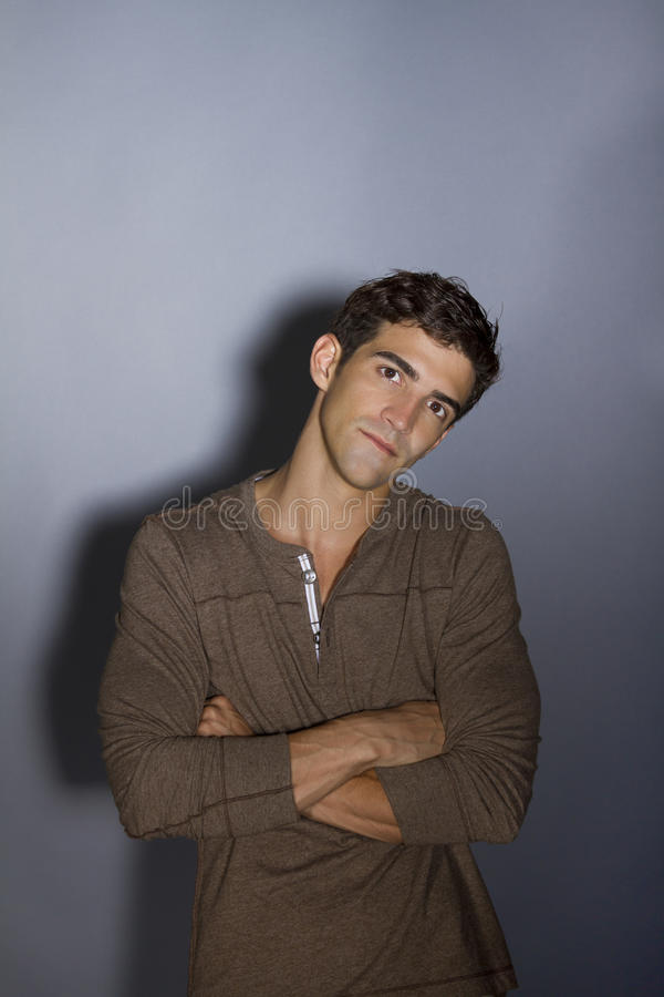 Download Young Man In Thoughtful Pose Stock Image - Image: 23301767