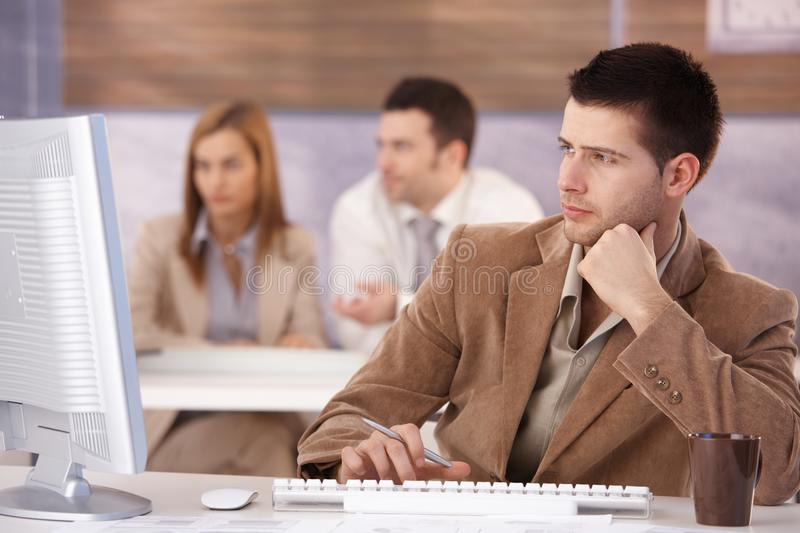 Download Young Man At Training Course Royalty Free Stock Photo - Image: 22193945