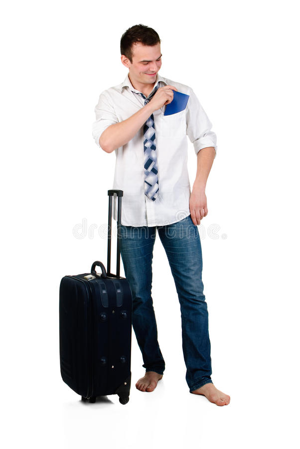 Young man travelling