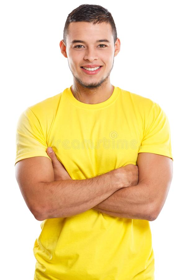 Free Young Man Upper Body Portrait Smiling People Isolated On White Stock Photography - 136871912