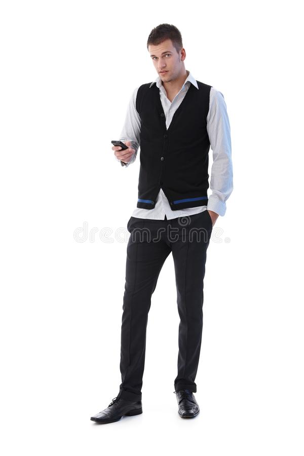 Download Young Man Using Mobile Phone Stock Image - Image: 19506541