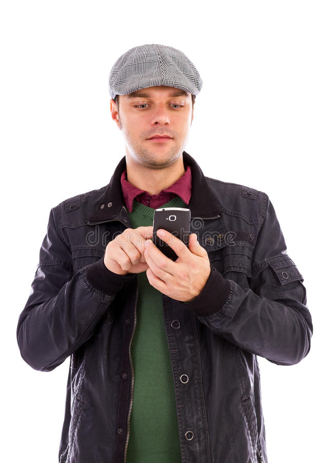 Download Young Man Using A Mobile Smart Phone Stock Images - Image: 28666384