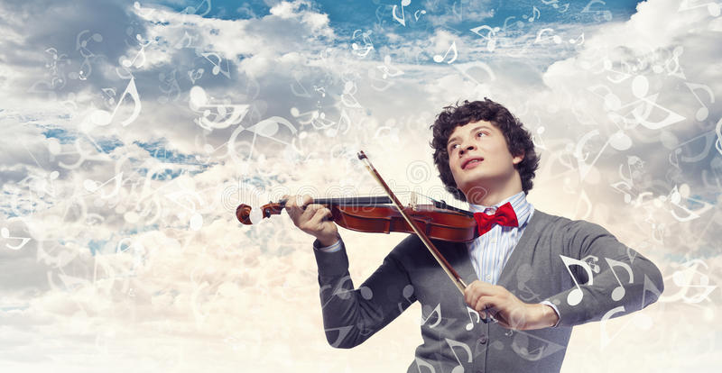 Download Young man violinist stock image. Image of artist, string - 33385215