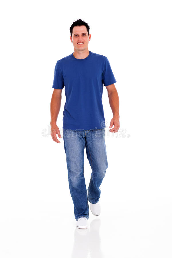 Free Young Man Walking Royalty Free Stock Photography - 28521467