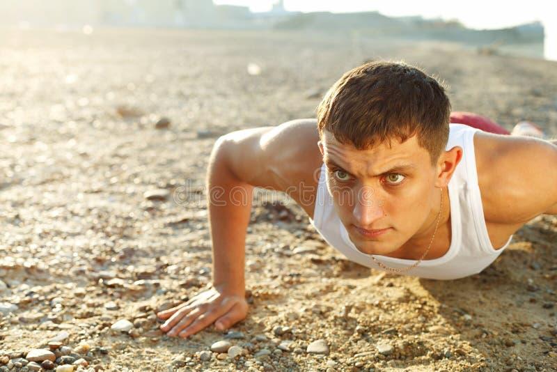 Download Young Man Warming-up At Early Morning Stock Image - Image: 26870405