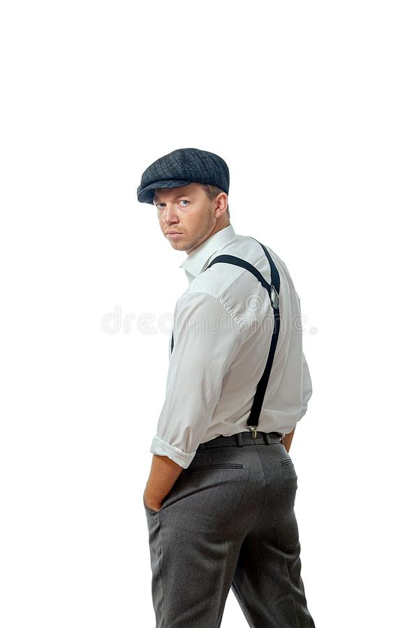 Young man wearing a cap. Image of a young man wearing a cap royalty free stock photos