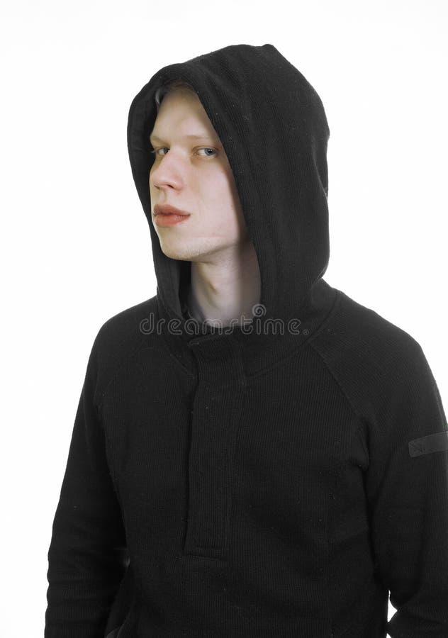 Young Man Wearing Hood Royalty Free Stock Photos
