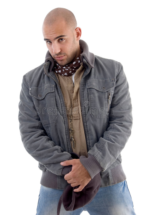 Download Young Man Wearing Winter Jacket Stock Photo - Image: 7115816