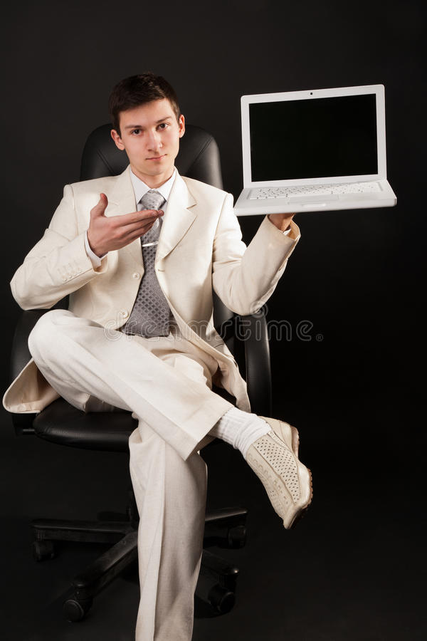 Download Young man in white stock photo. Image of occupation, connection - 29703152