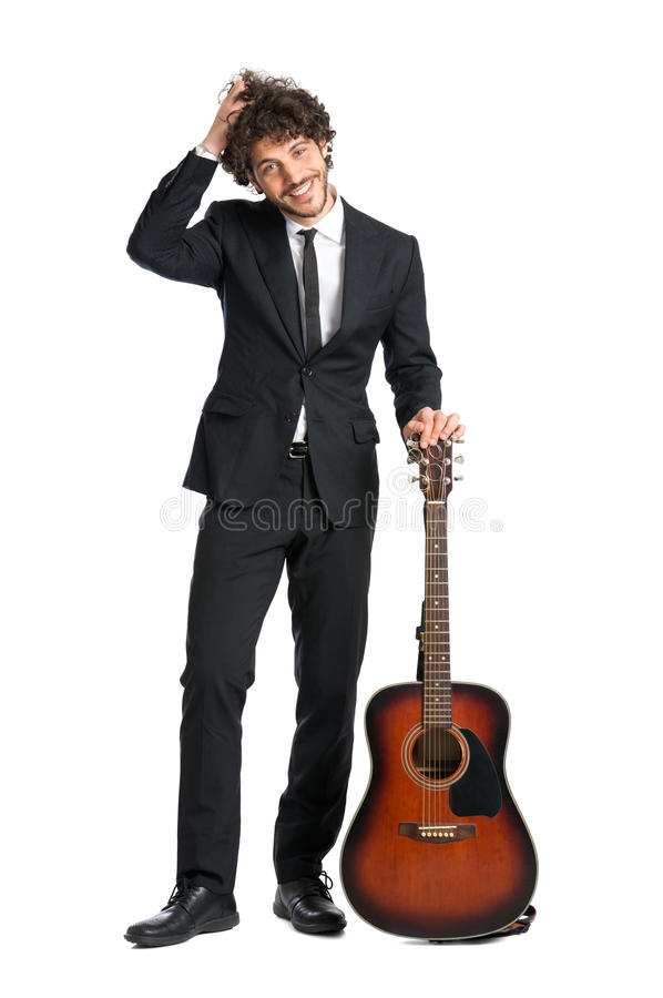 Free Young Man With Guitar Stock Images - 40628104