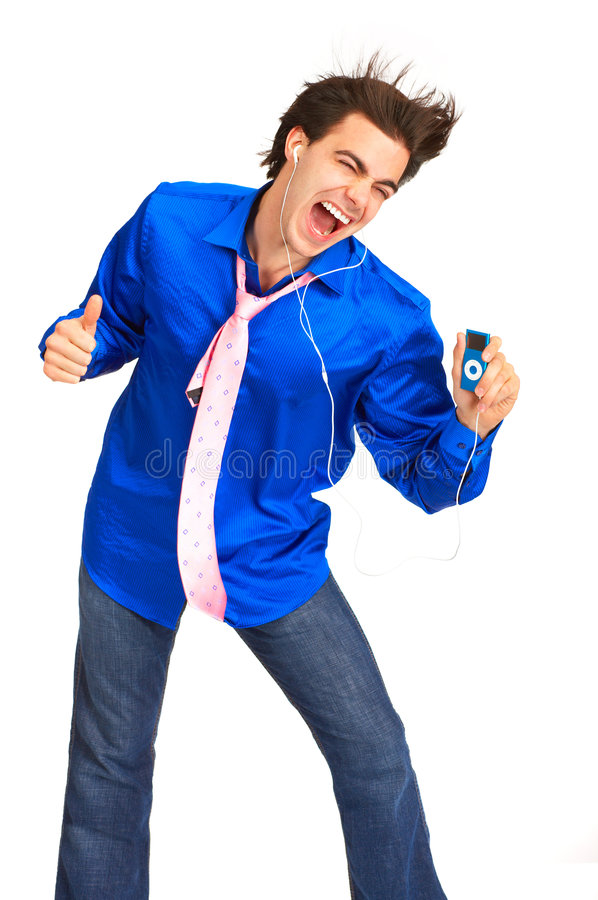 Free Young Man With Mp3-player Stock Image - 7531321