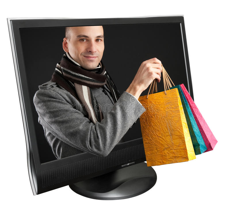 Free Young Man With Paper Bags Royalty Free Stock Image - 16522856
