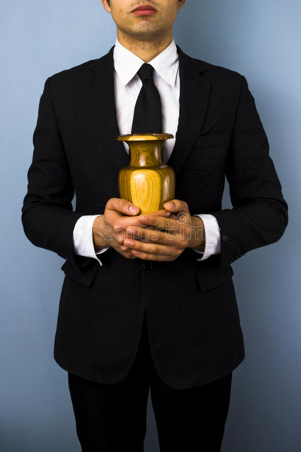 Free Young Man With Urn Stock Image - 31151561