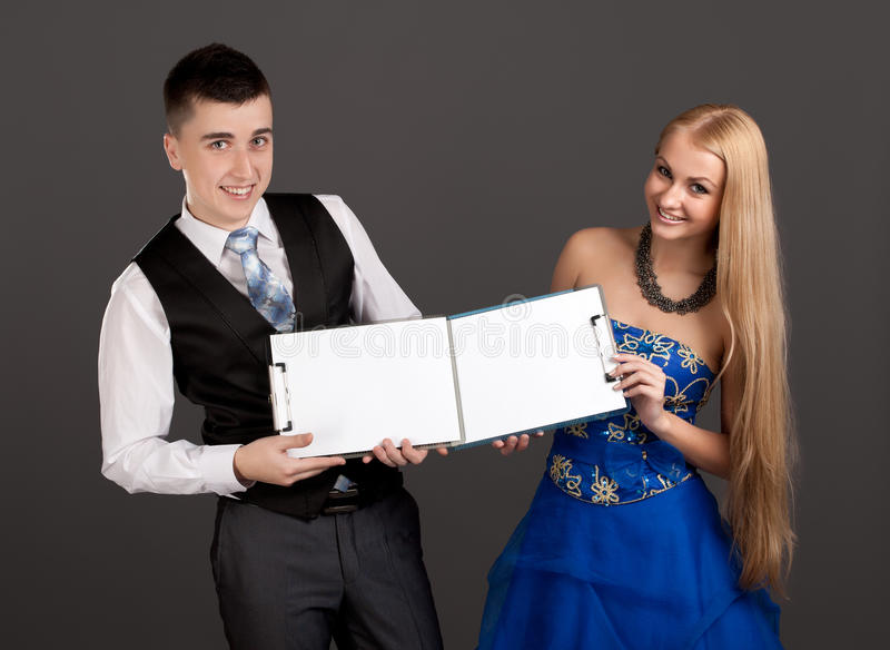Download Young Man And Woman Holding Clip Boards Stock Image - Image: 28040705