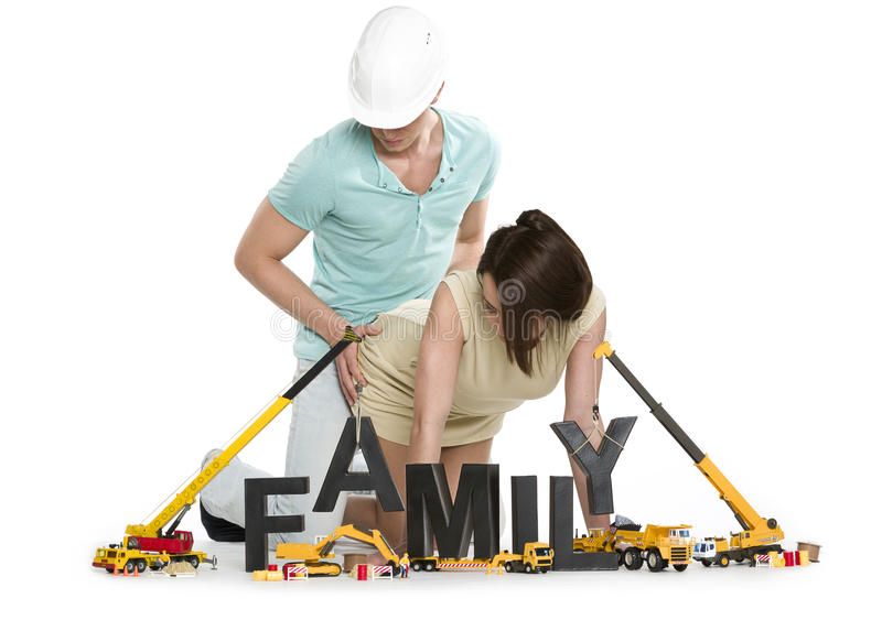 Young Man And Woman Starting A Family. Stock Photo - Image