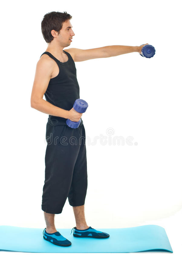 Young Man Workout Stock Photo