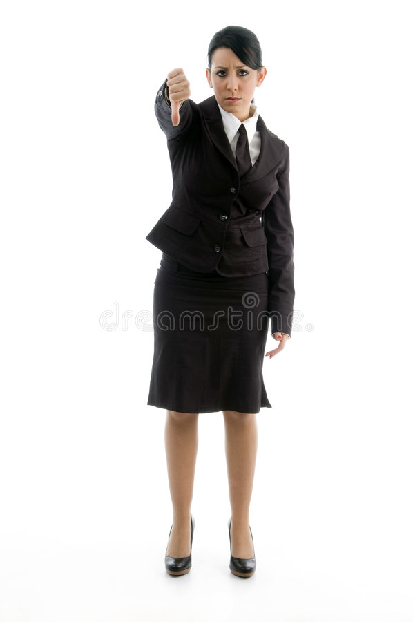 Download Young Manager Showing Thumb Down Royalty Free Stock Images - Image: 7363339