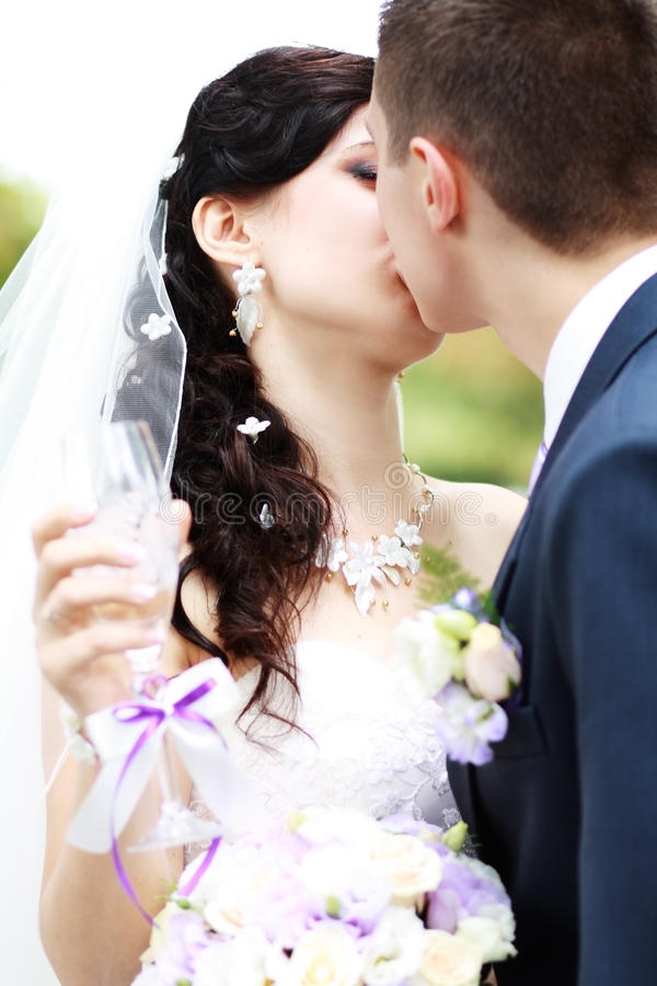Download Young Married Couple Kissing Stock Photo - Image: 34307300
