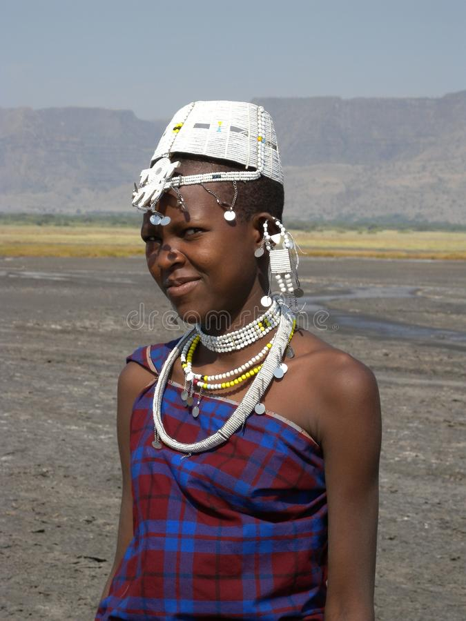 Young Masai Women stock photo