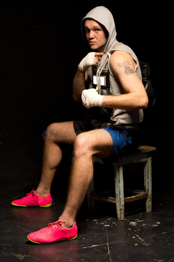Download Young Mean Looking Boxer Waiting For A Fight Stock Image - Image: 38644229