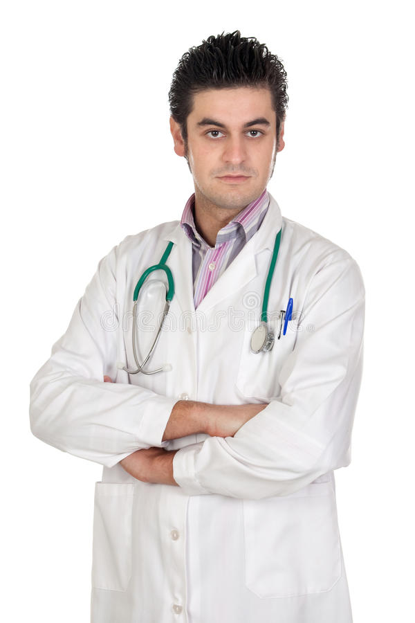 Young medical isolated stock photography