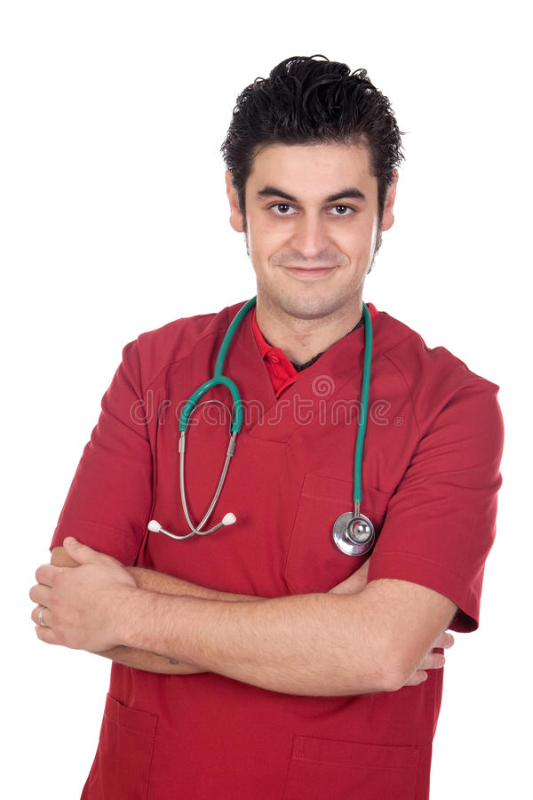 Young medical isolated royalty free stock photo