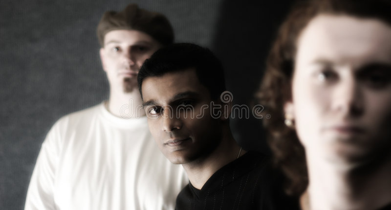 Young men royalty free stock image