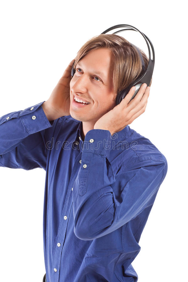 Download Young Men Feeling The Music Stock Photo - Image: 19149500