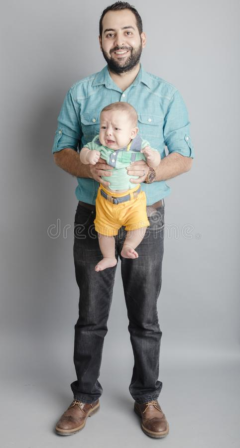 Dad and son royalty free stock images