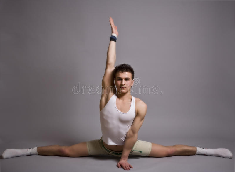 Download Young Men Stretching Isolated On White Background Stock Photo - Image: 9665624