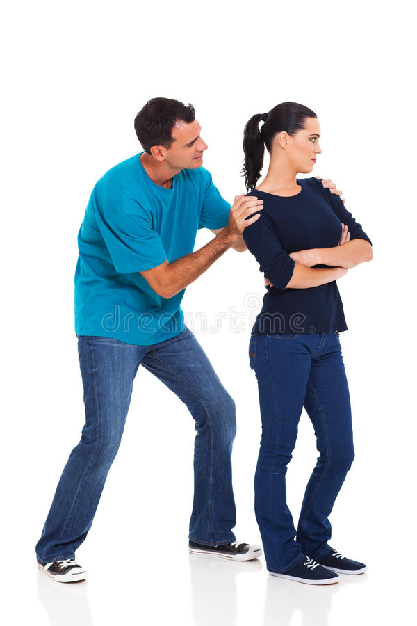 Man angry girlfriend stock images